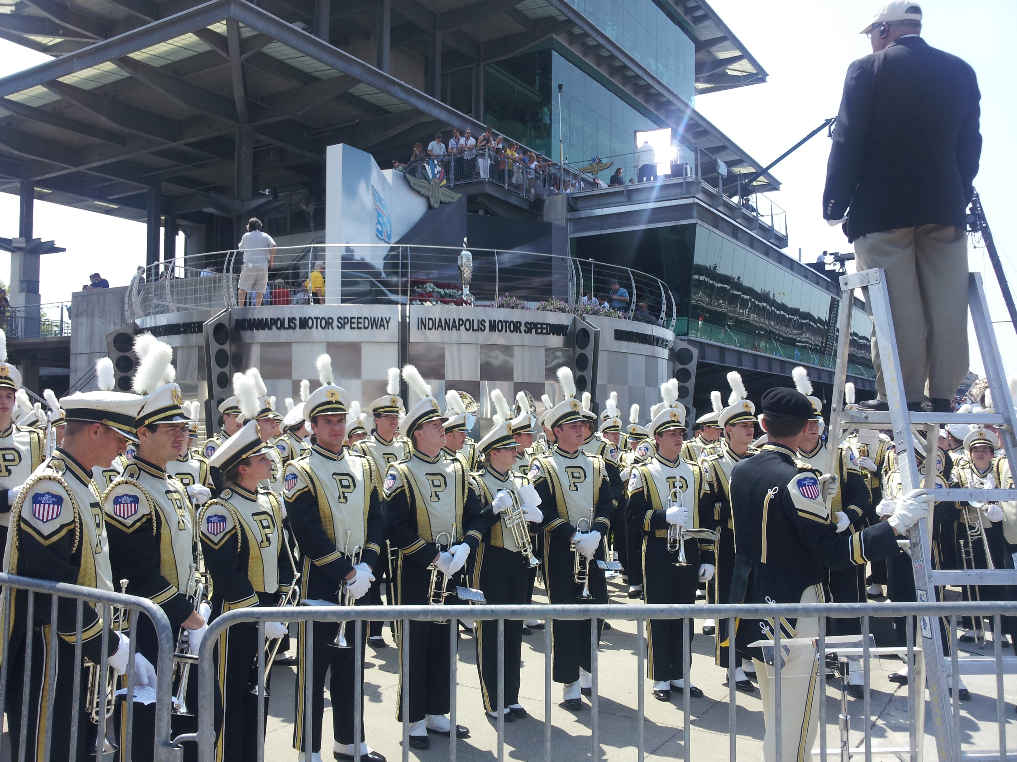 Purdue band at the Indy 500.