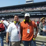 Jim Johnson and Cliff Brunt at the 2012 Indianapolis 500.