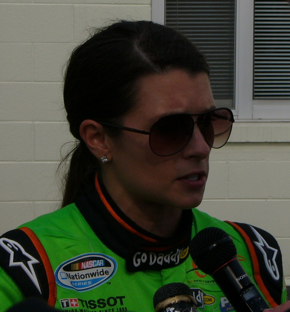 Danica Patrick at the Nationwide race at Indianapolis last year. Photo by Cliff Brunt.