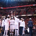 The Indiana Fever celebrate their WNBA title.