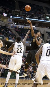 Terone Johnson, pictured here against Notre Dame last season, was strong for the Boilermakers on Wednesday.