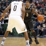 Purdue point guard Ronnie Johnson, shown last season against Notre Dame, has left the program.