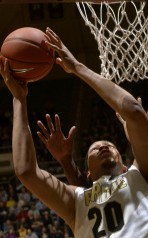 Center A.J. Hammons had a strong freshman season for Purdue. Photo from Purdue Athletics.
