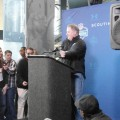 Eagles coach Chip Kelly addresses the media. Photo by Cliff Brunt.