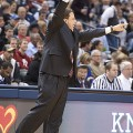 Tom Crean coaching against Butler.