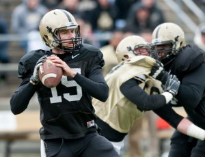 Rob Henry is still the quarterback at Purdue. Photo by Paul Siegfried.