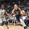 Fever guard Katie Douglas (No. 23) missed most of last season with a bulging disc in her back. Photo from the Indiana Fever.