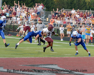 Brebeuf's LeVante Bellamy ran 15 times for 134 yards and three scores in a win over Chatard early this season.