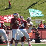 Nate Sudfeld drops back to pass last season against Bowling Green. Photo by Collin O'Connor.