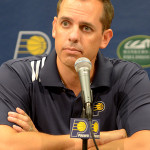 Frank Vogel has a .580 winning percentage in Indiana. Will he return? (Photo by Pacers Sports and Entertainment)