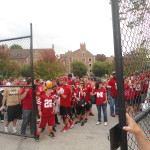 Nebraska's fans await the team after a 44-7 win at Purdue.