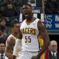 Roy Hibbert's mental state bears watching in Indiana's playoff run. Photo by Jeff Clark, Pacers Sports and Entertainment.