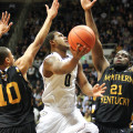 Purdue guard Terone Johnson, shown here against Northern Kentucky, had 14 points against Rider. Photo by Cory Seward.