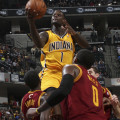 Pacers guard Lance Stephenson, shown here against Cleveland, had a big game against Charlotte. Photo by Jeff Clark, Pacers Sports and Entertainment.