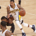 George Hill played his best game as a Pacer Friday. (Photo by Frank McGrath, Pacers Sports and Entertainment.)