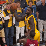 Lance Stephenson might be with the antics. Photo by Pacers Sports and Entertainment.