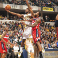 Solomon Hill had a career high 28 points in Saturday's loss to the Wizards.  (Photo by Pacers Sports and Entertainment)