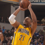 David West scored 18 points in his return to the court.  (Photo by Pacers Sports and Entertainment)