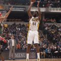 Solomon Hill scored 12 points in the Pacers loss to Milwaukee.  (Photo by Pacers Sports and Entertainment)