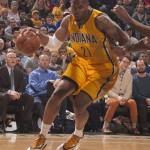 David West was held to 8 points and 4 rebounds in the Pacers loss to Atlanta. (Photo by Pacers Sports and Entertainment)
