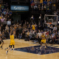 George Hill attempts the game-winner but misses.  (Photo by Pacers Sports and Entertainment)