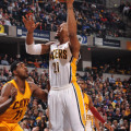 David West had 20 points and 13 rebounds in the Pacers win over Cleveland. (Photo by Pacers Sports and Entertaiment)