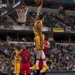 George Hill had 23 points in the Pacers loss to Toronto. (Photo by Pacers Sports and Entertainment)