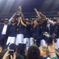 Duke celebrates its fifth National Championship. (Photo by Tyler Smith)