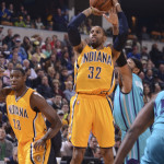C.J. Watson scored 13 points in the Pacers win over Charlotte. (Photo by Pacers Sports and Entertainment)