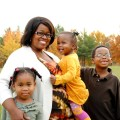 Christina with the kids.