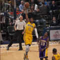 Paul George scored 21 points in the win over the Lakers on Monday night. (Photo by Pacers Sports and Entertainment)