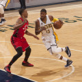 Paul George scored 18 points in the loss to Toronto. (Photo by Pacers Sports and Entertainment)
