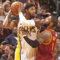 Paul George scored 21 points in the win over Cleveland.  (Photo by Pacers Sports and Entertainment)