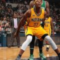 Myles Turner scored 17 points in the Pacers loss to Boston. (Photo by Pacers.com)