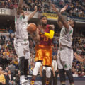 Paul George scored 19 points in the Pacers loss to Boston. (Photo by Pacers Sports and Entertainment)