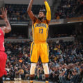 Paul George scored 37 points in the win over Portland. (Photo by Pacers.com)
