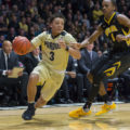 Guard play led the Boilers to victory in their Big Ten opener. (Photo by the Global Gazette)