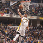 Myles Turner had 23 points and 12 rebounds in the win over Orlando. (Photo by Pacers Sports and Entertainment)