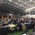 The crowd at Purdue's Recruiting Roundup. Photo by Keith Carrell.