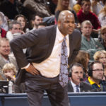 Nate McMillan watches as his team drops a sixth straight game. (Photo by Pacers Sports and Entertainment)