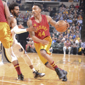 Jeff Teague recorded his 14th double-double of the season on Friday night. (Photo by Pacers Sports and Entertainment)