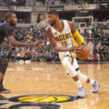 Paul George scored a season-high 39 points in the win over Charlotte. (Photo by Pacers Sports and Entertainment)