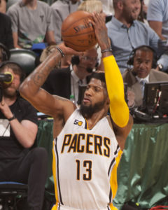 Paul George has scored 20 points or more in 12 straight games. (Photo by Pacers.com)