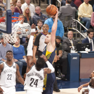 Domantas Sabonis is off to a great start in his Pacers career. (Photo by Pacers Sports and Entertainment)