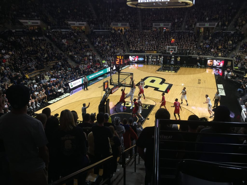 Isaac Haas gets fouled by SIUE in season opener on November 10th, 2017.