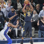 Myles Turner scored 24 points against Detroit on Friday night. (Photo by Pacers Sports and Entertainment)