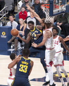 Victor Oladipo scored 23 points in 24 minutes in his return to action Saturday night. (Photo by Pacers Sports and Entertainment)