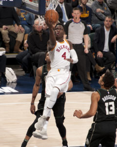 Oladipo scored 15 points in the Pacers win over Milwaukee. (Photo by Pacers Sports and Entertainment)